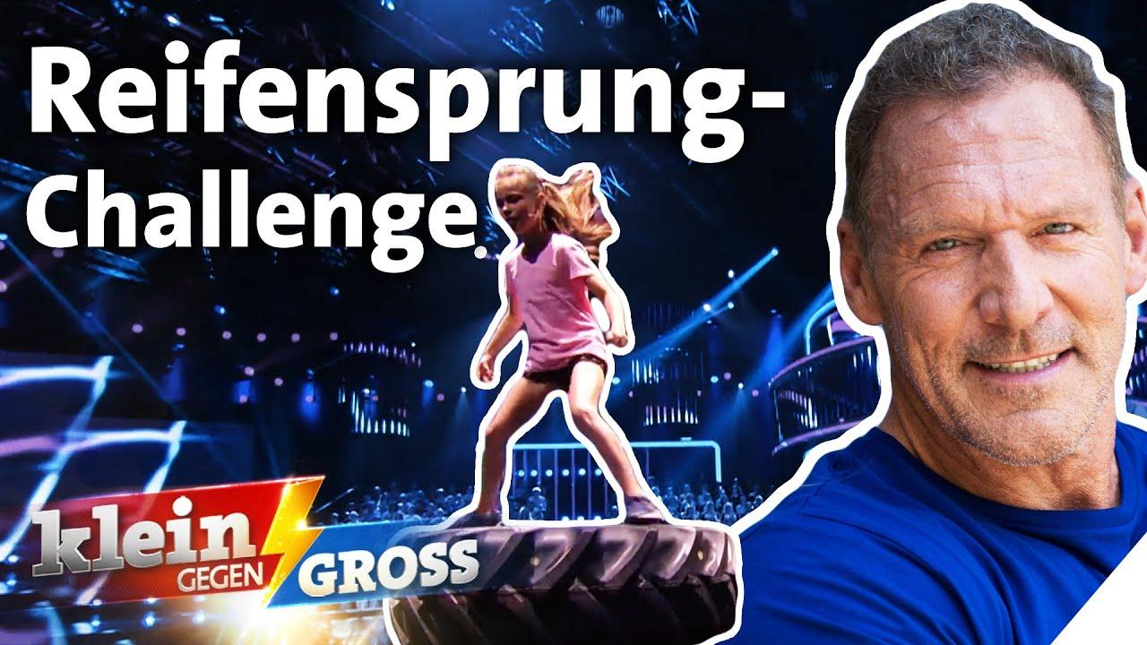 Kraftpaket Rona schneller als Ralf Möller? Reifensprung-Challenge | Klein gegen Groß