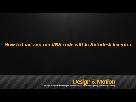 Load and run a VBA Code snippet in Autodesk Inventor