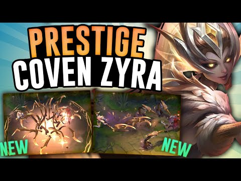 The New PRESTIGE COVEN ZYRA is AMAZING! - Zyra Jungle - League of Legends