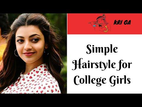 Kajal Agarwal Hairstyles Tutorial:1 Min Front Puff For Thin Hair|KRI GA thumbnail
