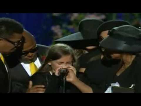 Daughter PARIS says Goode & We Are The World  Heal The World @ Michael Jackson Memorial, LA