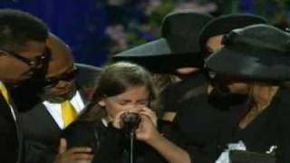 Daughter PARIS says Goodbye & We Are The World - Heal The World @ Michael Jackson Memorial, LA.