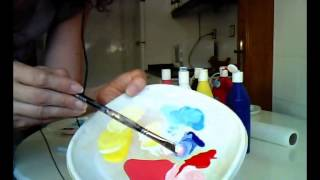 MEZCLAR COLORES. Cómo usar el blanco para aclarar colores. Mix colors. White.