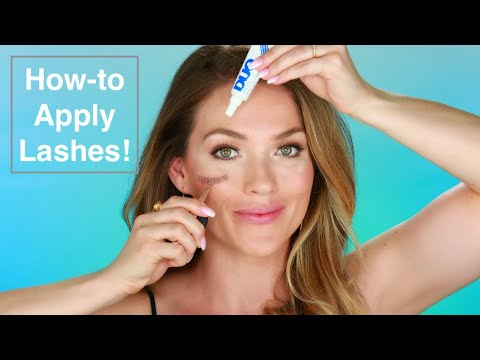 FALSE LASHES: Do's and Don'ts   For Beginners! Step by Step Guide how to apply falsies - eye lashes