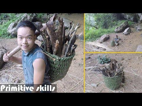 Primitive Technology: Woven Bamboo Baskets