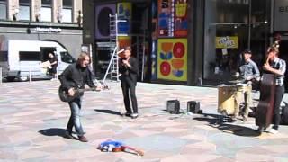 Gypsy Cowboys. Street musicians in Helsinki. Уличные музыканты в Хельсинки