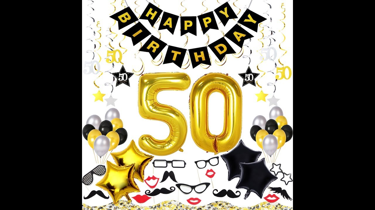 50th Birthday Decorations Kit 70 Pieces