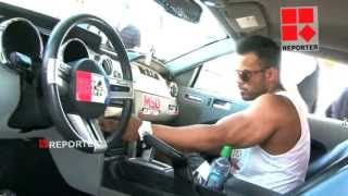 CAR STUNT SHOW CAR DRIFTING CAR EXHIBITION IN DUBAI STUDIO CITY FAST AND FURIOUS JULIAN SMITH