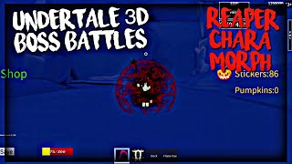 Undertale Au Monster Survive Fight Update By Glich Min Roblox Roblox Undertale 3d Boss Battles Reaper Chara Morph By Mcrblxgamer