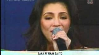 Super Touching! Regine sings Mr  DJ and Dear Heart at Sharon