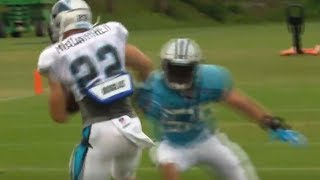 Christian McCaffrey Jukes Luke Kuechy Out of His Cleats