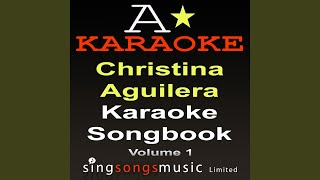 Walk Away (Originally Performed By Christina Aguilera) (Karaoke Version)