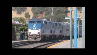 Amtrak P42DCs #201 and #189 Lead The Feather River Express Through Martinez