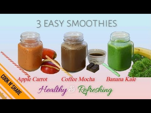 Three Healthy Relaxing Smoothies - Diet Friendly