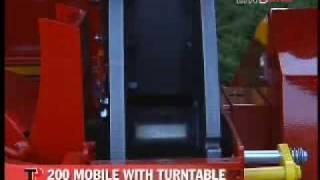 ΘΡΥΜΜΑΤΙΣΤΗΣ ΚΛΑΔΙΩΝ ΚΑΤΑΣΤΡΟΦΕΑΣ TP 200 MOBILE TURNTABLE
