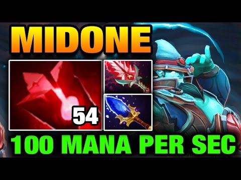 MidOne Dota 2 [Storm Spirit] CRAZY 100 Mana Regen with 54 Blood Stone Charges
