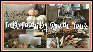 Fall Family Room Tour | Fall Home Tour 2018