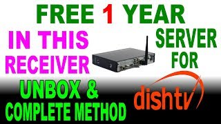 ONE YEAR  DISH TV FREE CLINE SERVER RECEIVER