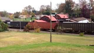 Kansas City Southern Belle SD70ACE leads Norfolk Southern 162 at Marion NC