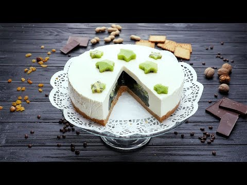 Желейный торт с киви - Рецепты от Со Вкусом