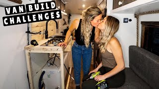 VAN LIFE BUILD | Building a Kitchen in Off- Grid Tiny Home (rough week)