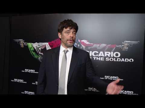 Cinemacon 2018 Sony Sicario: Day of the Soldado  Benicio Del Toro
