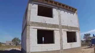 МПС Алматы. Дом из газобетона в 2 этажа - Абай. 8 сентября 2015 г.