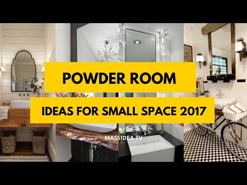 45+ Best Powder Room Ideas for Small Space 2017