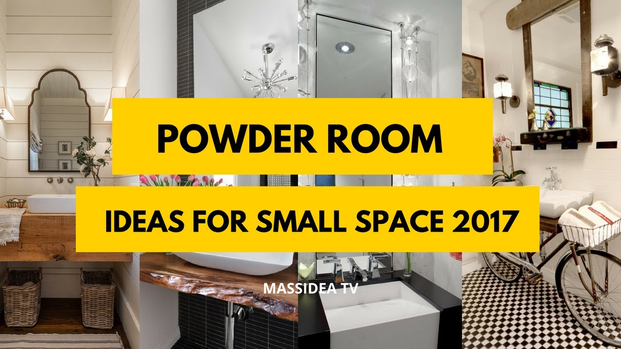 45 best powder room ideas for small space 2017 youtube - Room design for small space plan ...