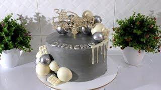 КРЕМОВЫЙ ТОРТ с шоколадным декором Украшение торта