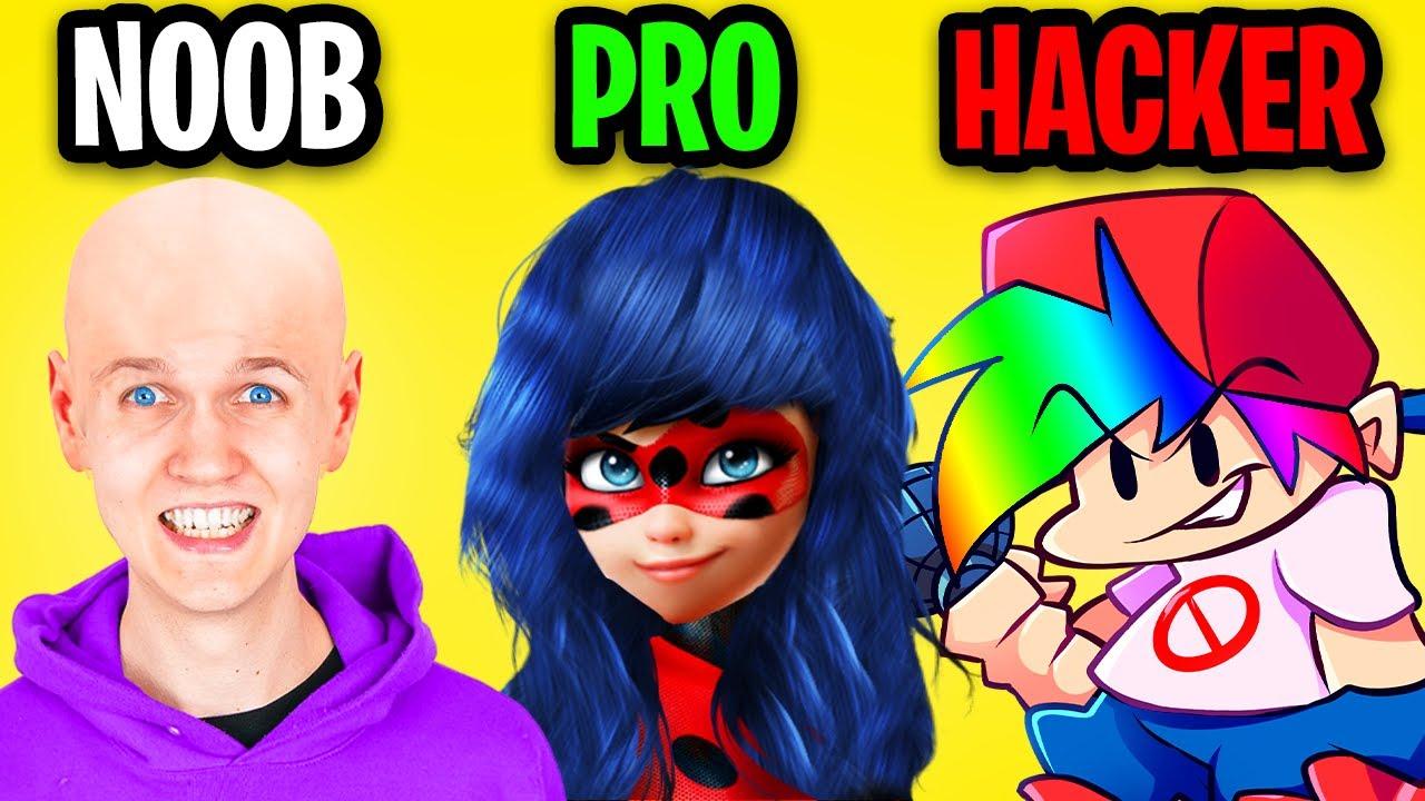 NOOB vs PRO vs HACKER In TOCA HAIR SALON! (NEW LANKYBOX HAIRCUTS?!)