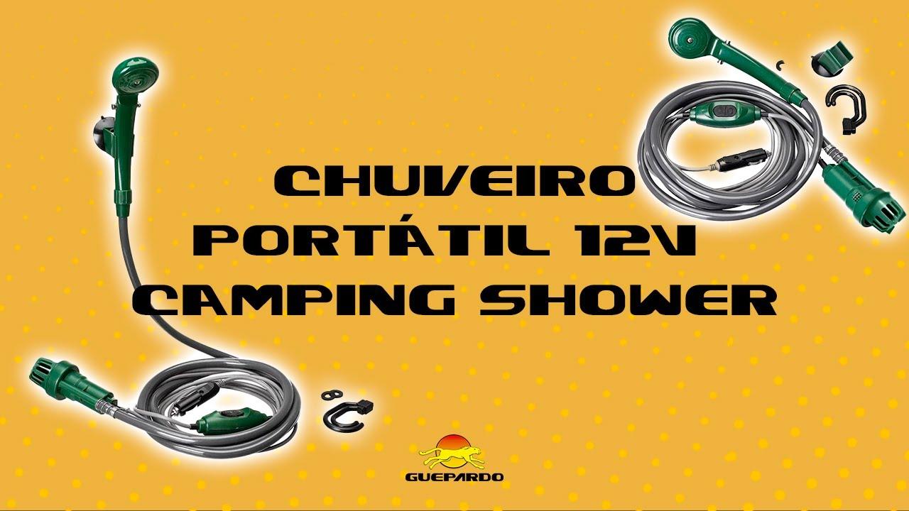 acf321201 Camping Shower 12V Guepardo - YouTube