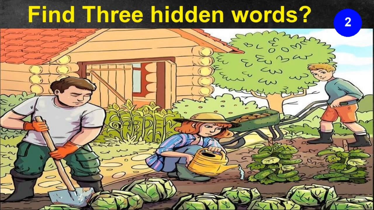 Highlight Three Hidden Words In The Garden Picture Youtube