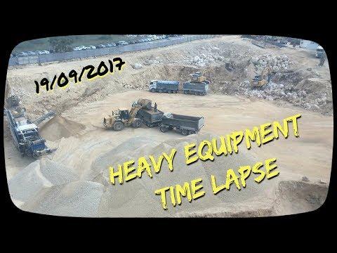 Heavy Equipment Time Lapse , Jerusalem 170919
