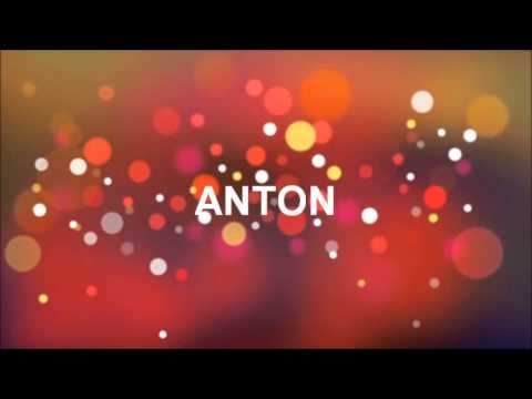 grattis anton GRATTIS PÅ FÖDELSEDAGEN ANTON   YouTube grattis anton