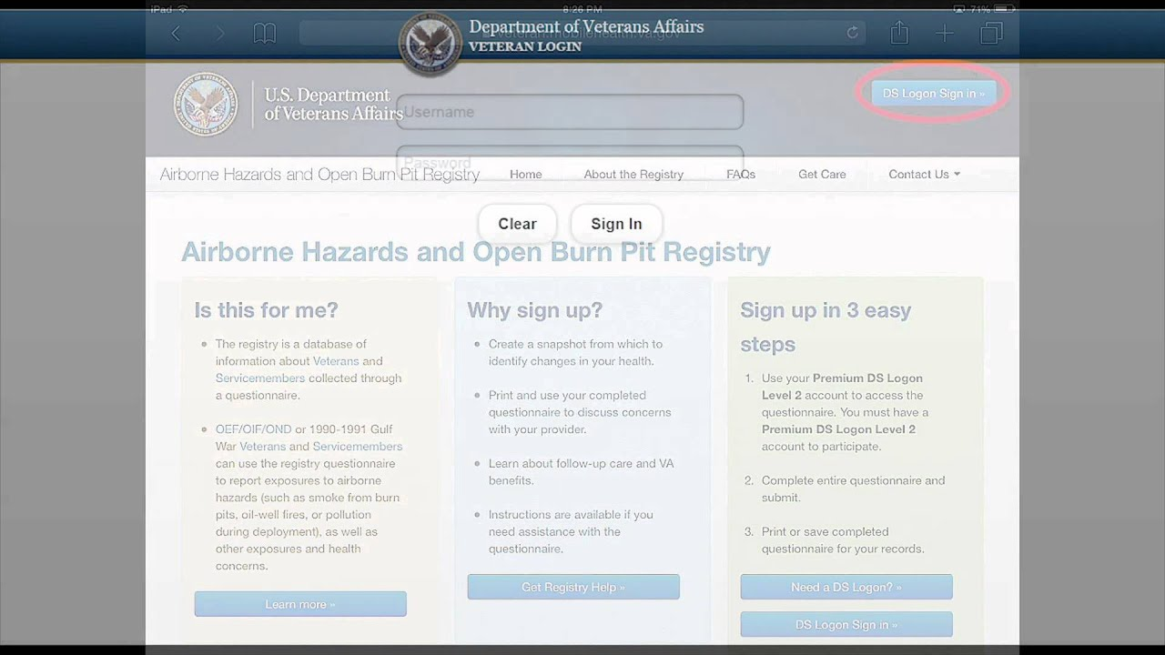 Airborne Hazards and Open Burn Pit Registry | VA Mobile