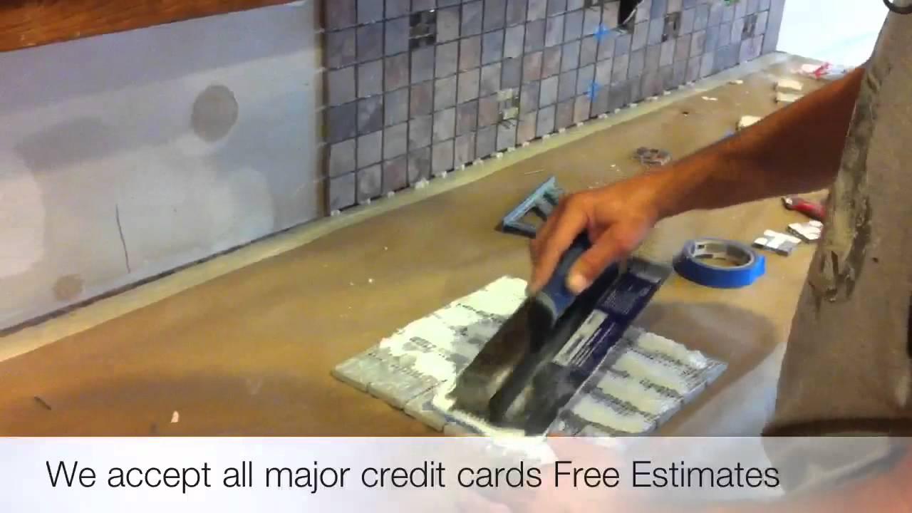 how to install tile backsplash burleson texas 76028 handyman youtube