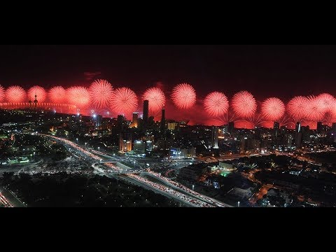 RAS AL KHAIMAH NEW YEAR FIREWORKS **WORLD RECORD**😱😱 SLO-MO