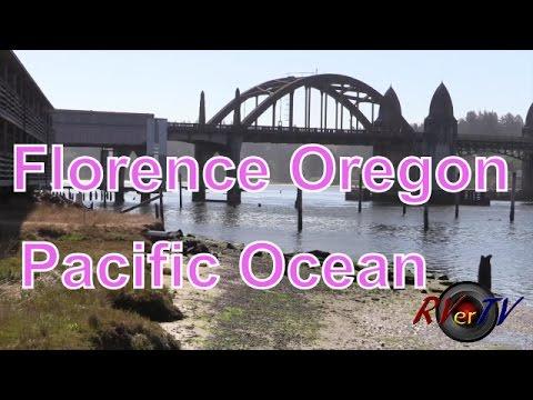 Florence Oregon...Siuslaw River...Bridge....Ocean  Fishing...RVerTV