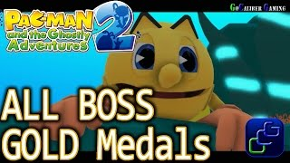 Pac-Man and the Ghostly Adventures 2 Walkthrough - ALL Boss Battles GOLD Medals