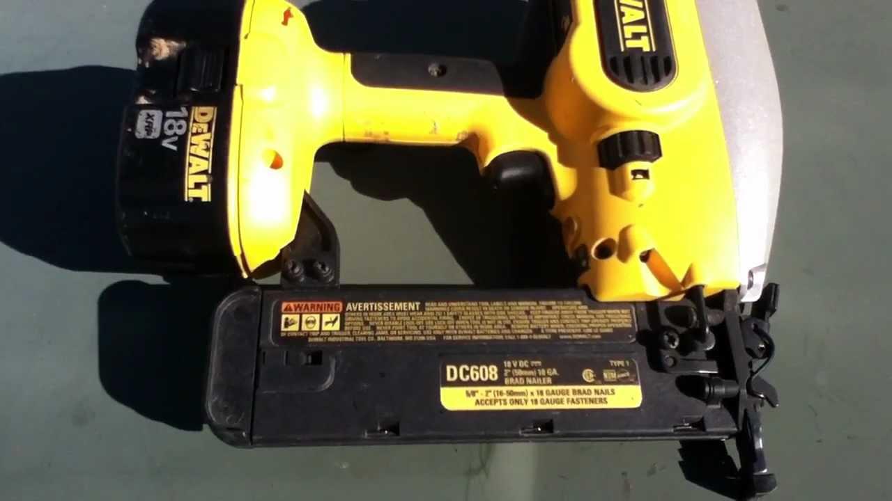 Pics photos dewalt cordless brad nailer nail gun - Dewalt Dc608 Dc608k Dc608b Cordless 18 Guage Finish Nailer