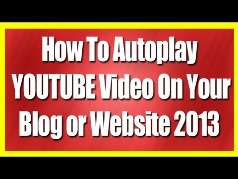 how to add youtube to website and autoplay