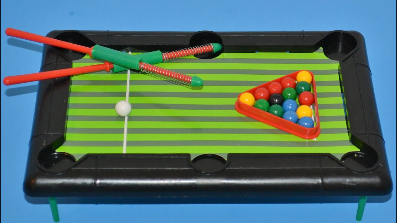 Superb Kids Pool Table Game   Table De Billard   YouTube
