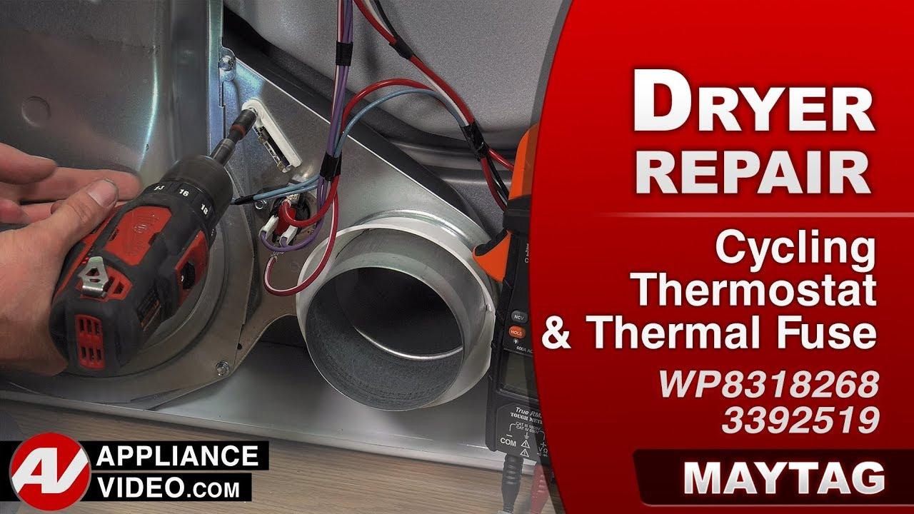 maytag, whirlpool & kenmore dryer - thermal fuse - diagnostic & repair