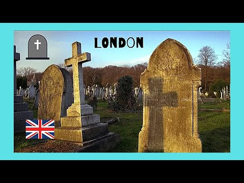 LONDON, an old and graphic ENGLISH CEMETERY in ENFIELD