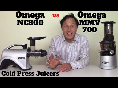 Omega NC800 Vs Omega Wide Mouth MMV700 Slow Juicer Comparison Review