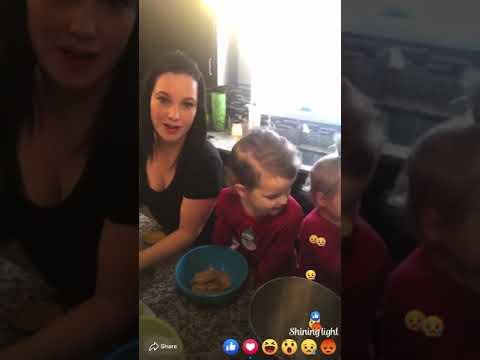 Shanann And The Girls Making Chocolate Chip Cookies Around Christmas 2017