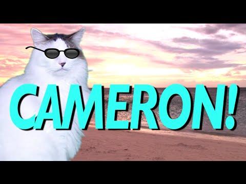 Happy Birthday Cameron Epic Cat Happy Birthday Song