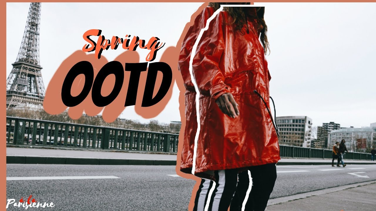 [VIDEO] - Vinyl Red Raincoat OOTD | Spring/Summer Lookbook 2018 1