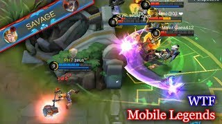 WTF Mobile Legends Funny Moments   300 IQ TANK SAVAGE! Lucu